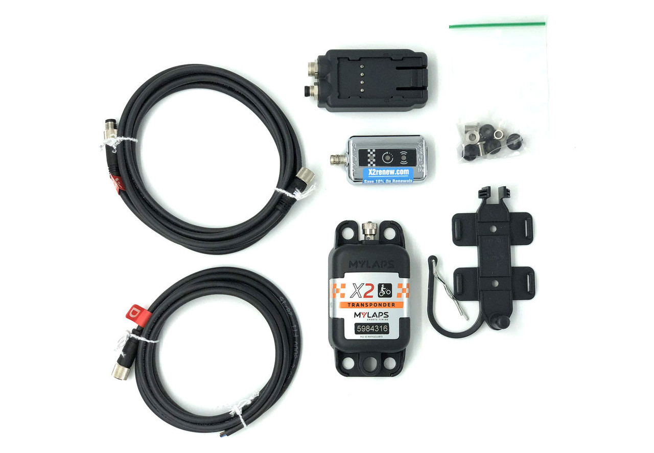 MyLaps X2 Direct Power Transponder (Motocross/MX), 2-year subscription