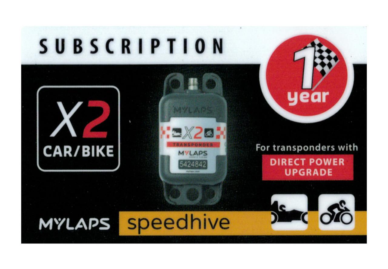 MyLaps X2 subscription renewal, 1-year car/bike DP [Renew instantly @ X2renew.com]