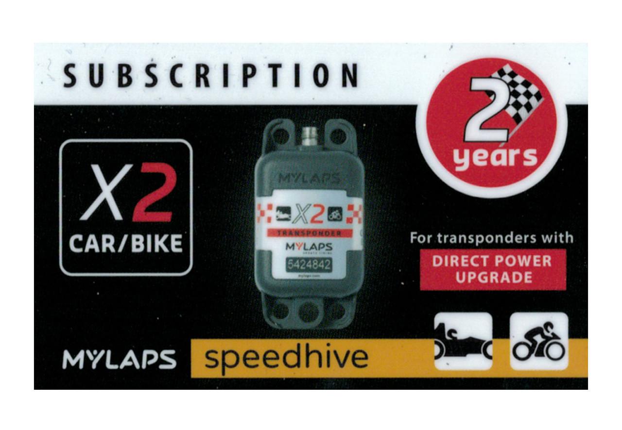 MyLaps X2 subscription renewal, 2-year car/bike DP [Renew instantly @ X2renew.com]