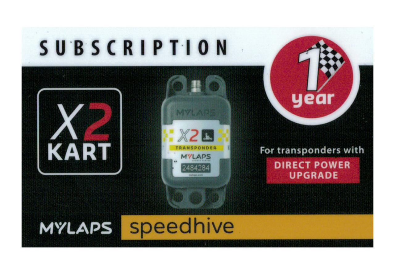 MyLaps X2 subscription renewal, 1-year kart DP [Renew instantly @ X2renew.com]
