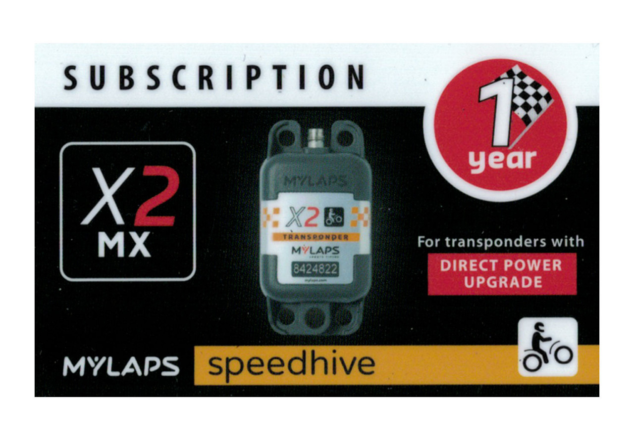 MyLaps X2 subscription renewal, 1-year MX DP [Renew instantly @ X2renew.com]