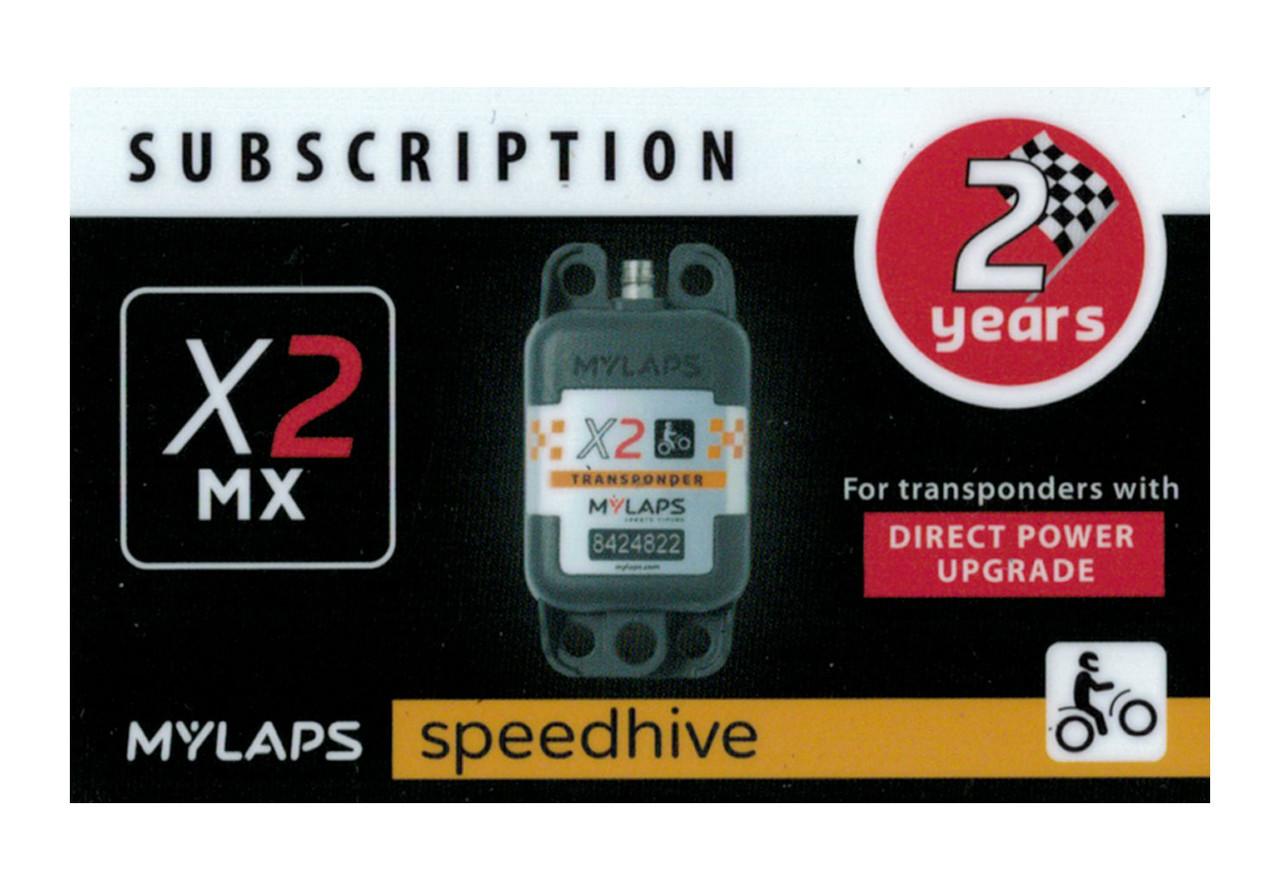 MyLaps X2 subscription renewal, 2-year MX DP [Renew instantly @ X2renew.com]