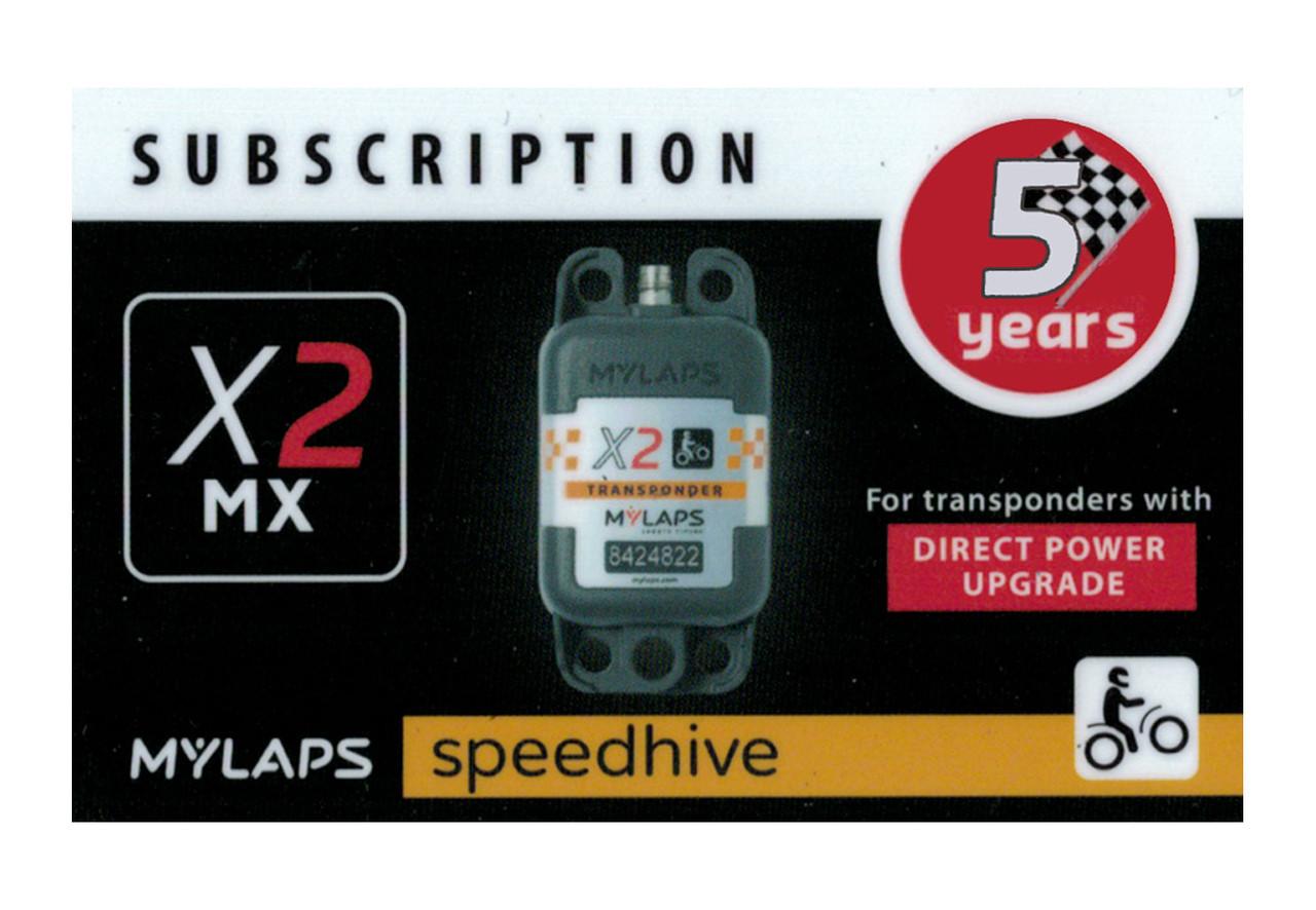 MyLaps X2 subscription renewal, 5-year MX DP [Renew instantly @ X2renew.com]