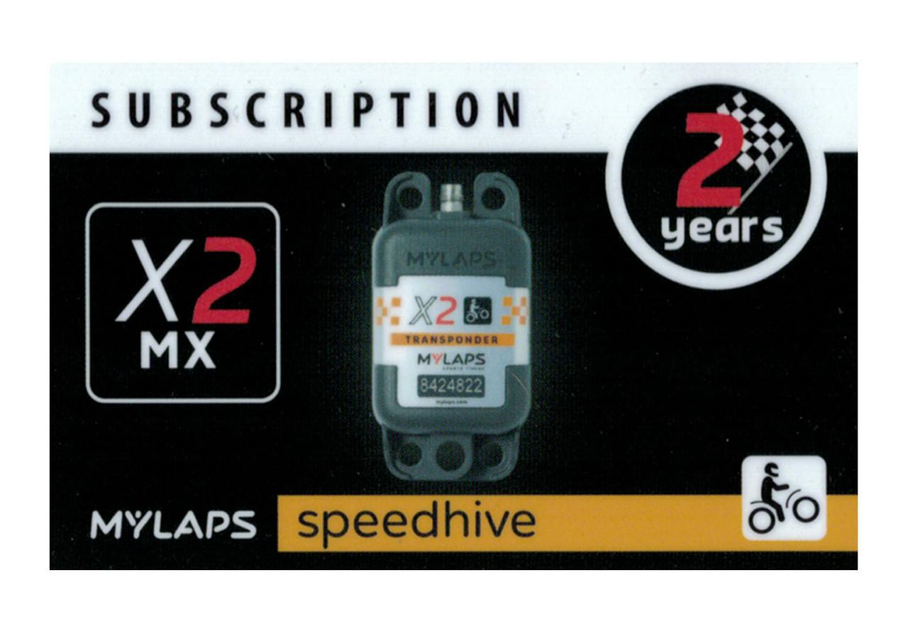 MyLaps X2 subscription renewal, 2-year MX [Renew instantly @ X2renew.com]