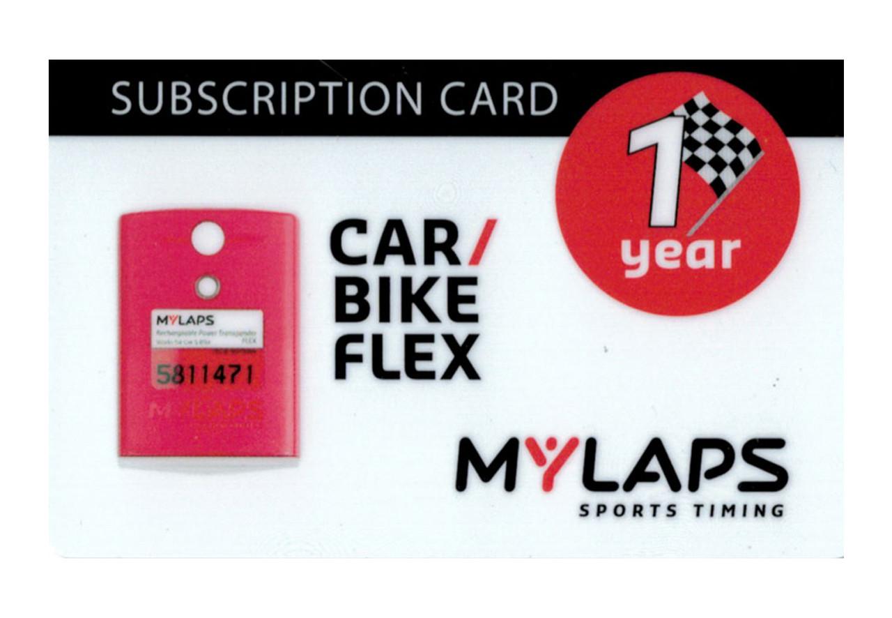 MyLaps Flex subscription renewal, 1-year car/bike [Renew instantly @ X2renew.com]