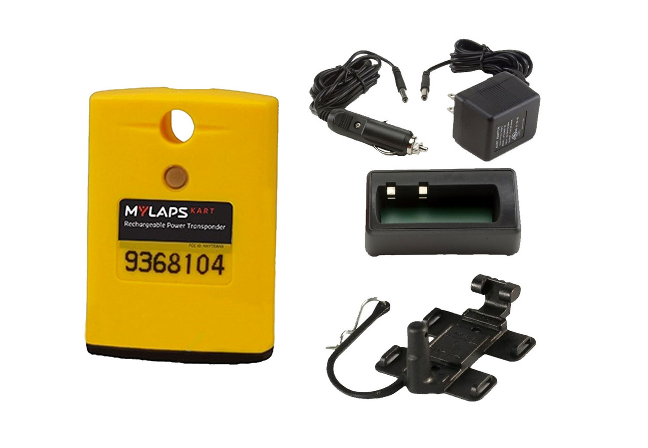 MyLaps Classic Rechargeable Transponder Combo (Kart), no subscription required