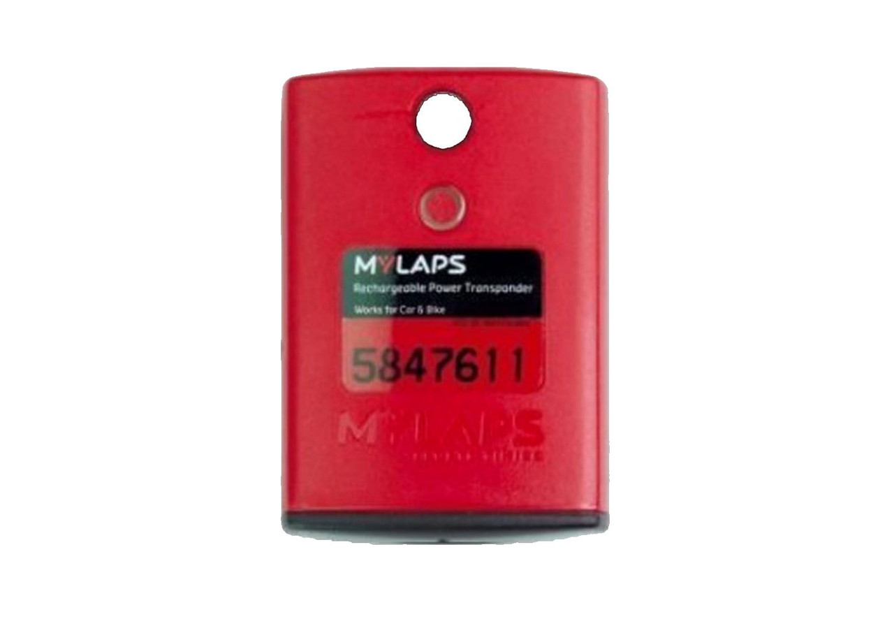 MyLaps Classic Rechargeable Transponder (Car/Bike), no subscription required