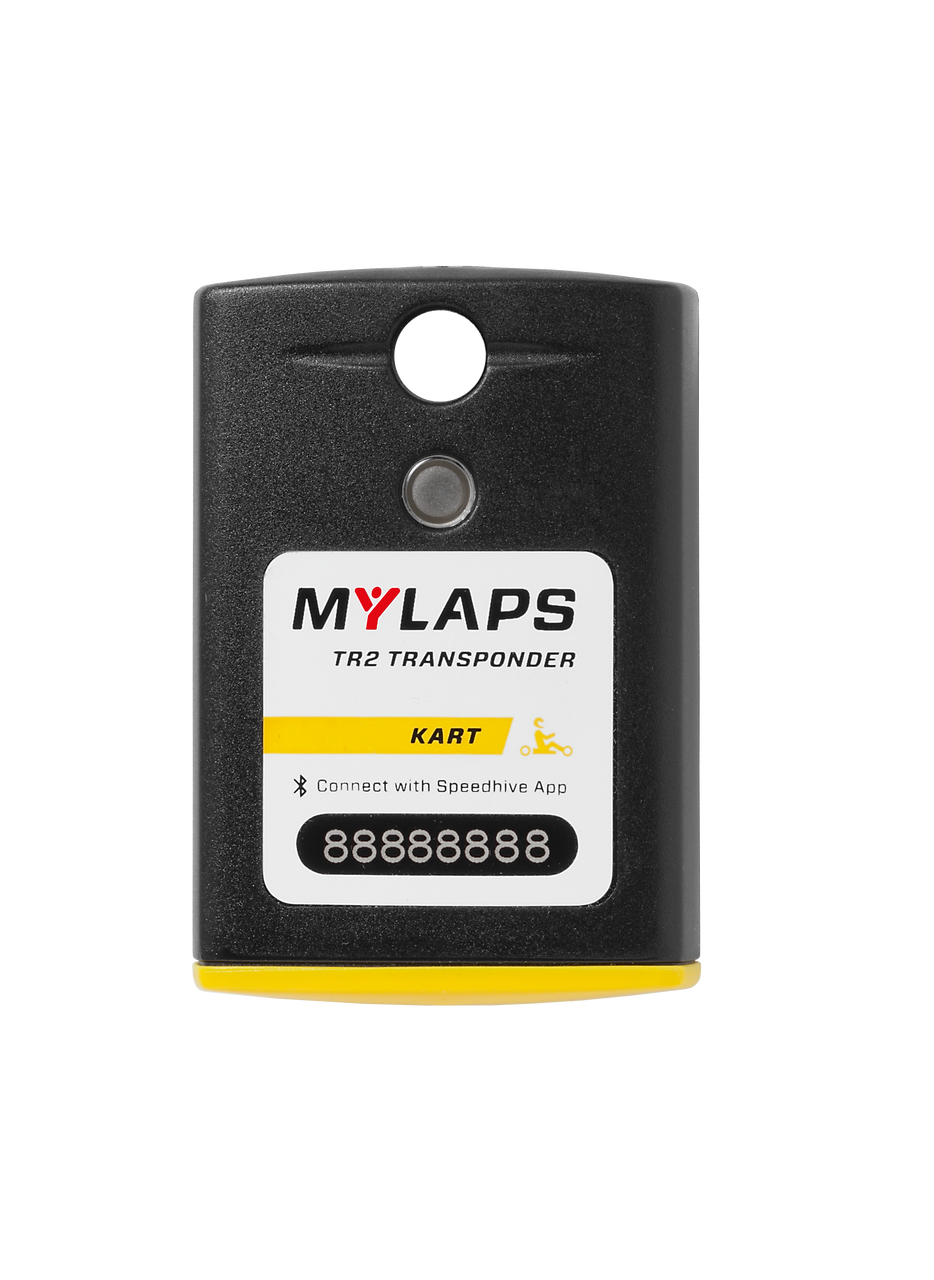 MyLaps TR2 Rechargeable Transponder (Kart), 5-year subscription
