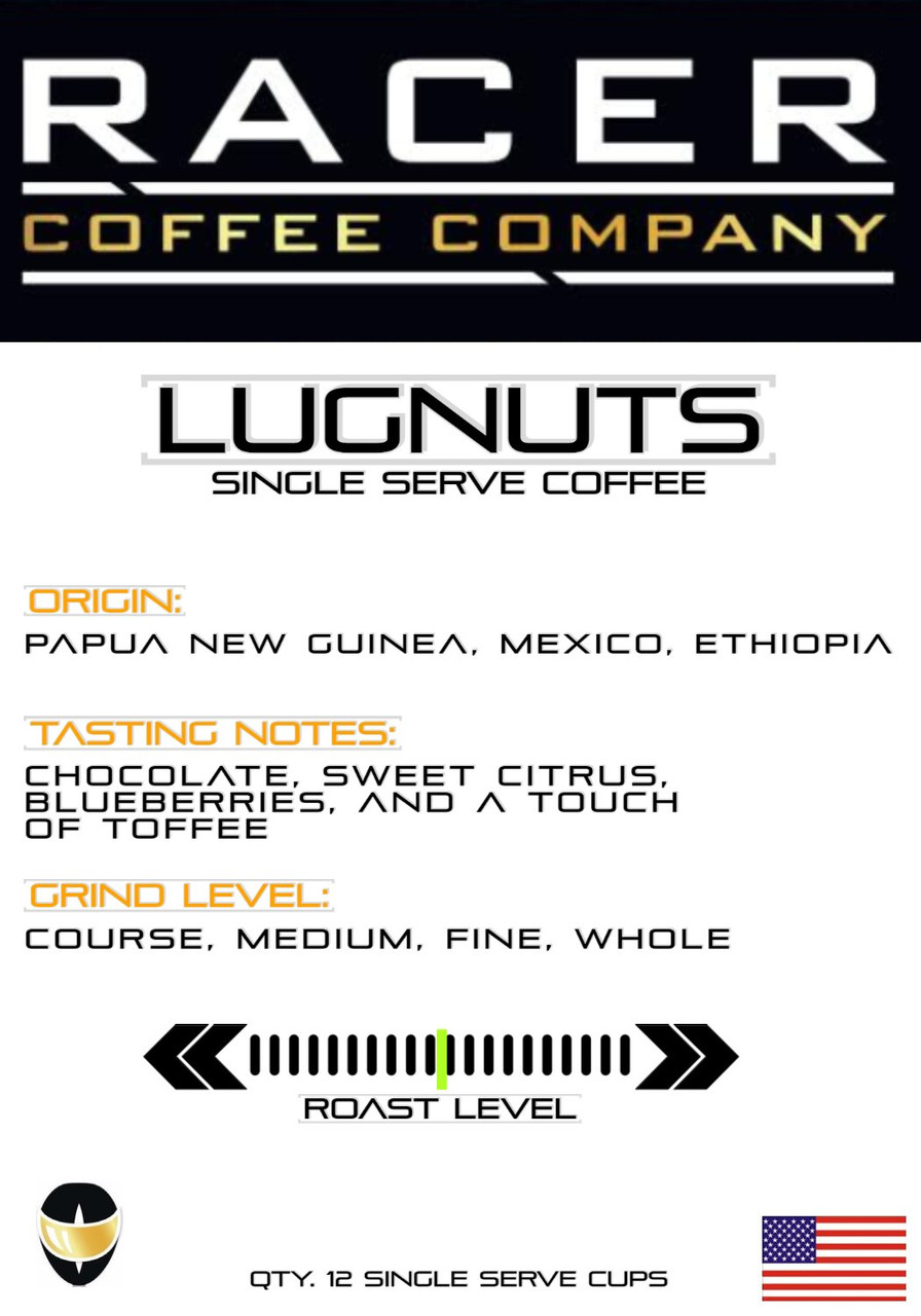 Racer Coffee - Lugnuts (K-Cups)