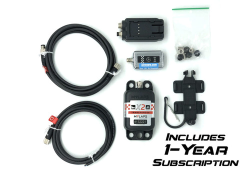 MyLaps X2 Direct Power Transponder (Car/Motorcycle), 1-year subscription