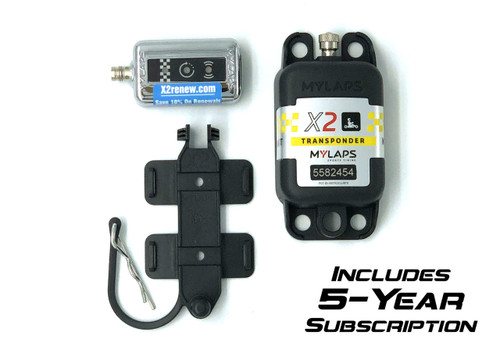 MyLaps X2 Rechargeable Transponder (Karting), 5-year subscription