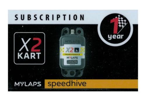 MyLaps X2 subscription renewal, 1-year kart [Renew instantly @ X2renew.com]