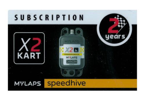 MyLaps X2 subscription renewal, 2-year kart [Renew instantly @ X2renew.com]