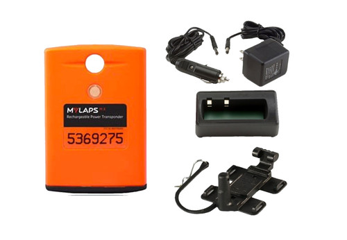MyLaps Classic Rechargeable Transponder Combo (Motocross/MX), no subscription required