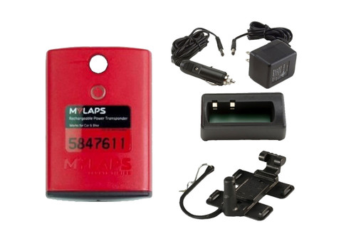 MyLaps Classic Rechargeable Transponder Combo (Car/Bike), no subscription required