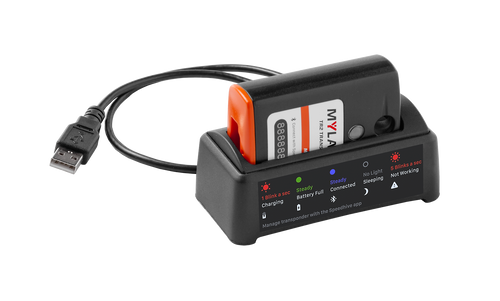 MyLaps TR2 Rechargeable Transponder (MX), 5-year subscription