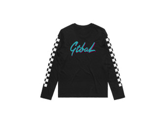 Girls CheckMate Black LS