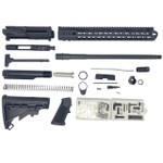 ".300 Blackout Rifle Kit 16"" .300 BLK Barrel, 15"" Keymod Handguard, 80% Lower Receiver (TF)-  Black"