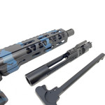 AR-15 Black and Blue Camo Pistol Kit 7.5 Nitride Barrel, 7 M-Lok Rail w 80% Lower Receiver