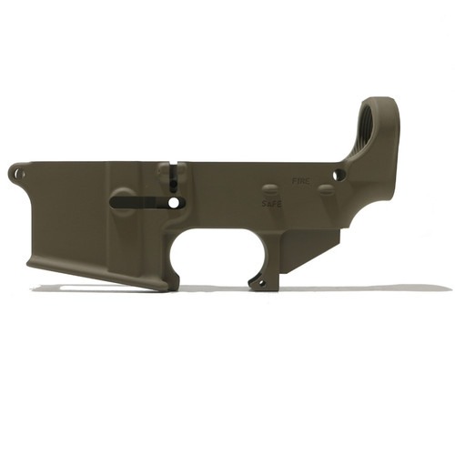 AR-15 80% Lower Receiver - FDE Cerakote