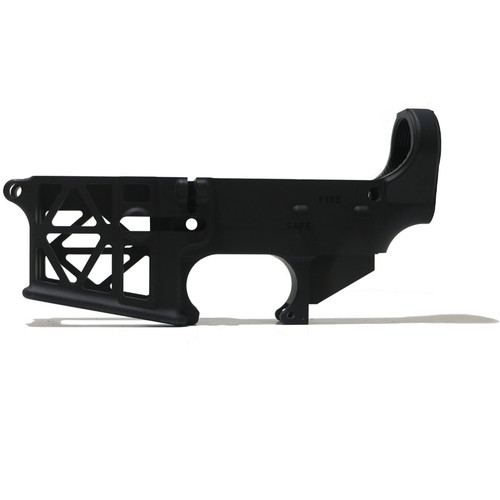AR-15  Skeleton 80% Lower Receiver - Black