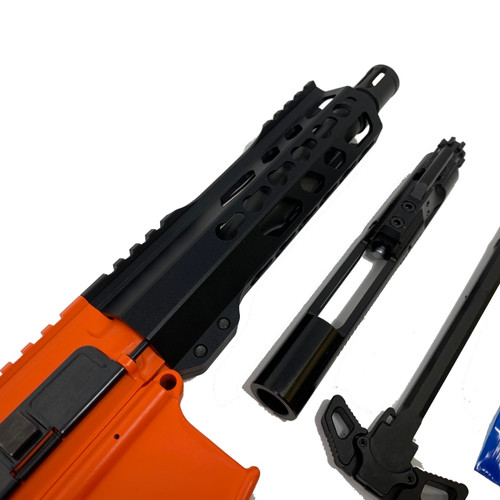 ".300 Blackout Pistol Kit 7""5 Phosphate Barrel, 7"" Keymod Rail Blk, 80% Lower Receiver - Orange"