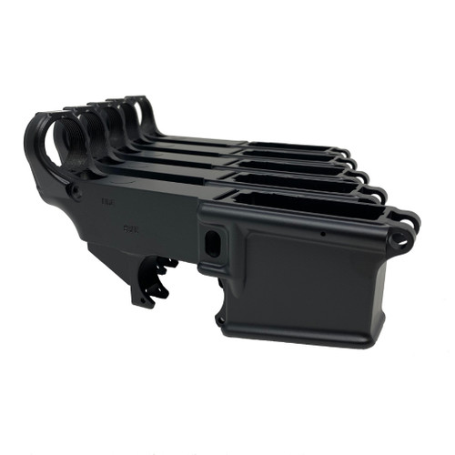 AR-15 80% Lower Receiver 5 Pack - Black Powder Coat