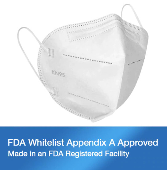 SourceMed KN95 Face Mask FDA WhiteList Authorized 10 Pack