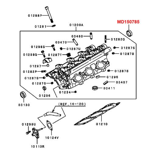 MONTERO Gen2 - 3.5L DOHC V6 Camshaft Oil Seal, REAR (MD150785)