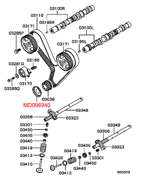 MONTERO Gen1 & 2 - 12V 3.0L V6 Crankshaft Sprocket Flange