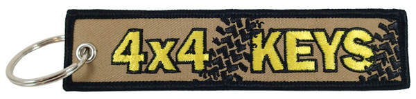 Embroidered Key Chain, 4x4 Keys