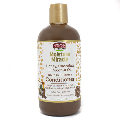 African Pride | Moisture Miracle | Honey, Chocolate & Coconut Oil Conditioner
