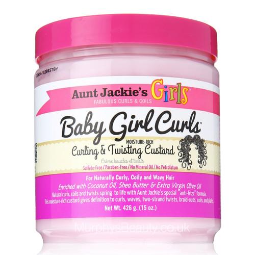Aunt Jackie's | Girls Soft & Sassy | Baby Girl Curls Custard (15oz)