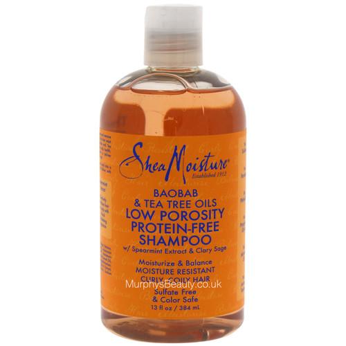 Shea Moisture | Baobab & Tea Tree | Oils Low Porosity Protein-Free Shampoo