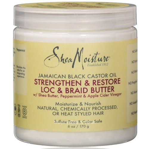 Shea Moisture | Jamaican Black Castor Oil | Strengthen & Restore LOC & Braid Butter