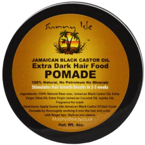 Sunny Isle   Jamaican Black Castor Oil   Extra Dark Hair Pomade