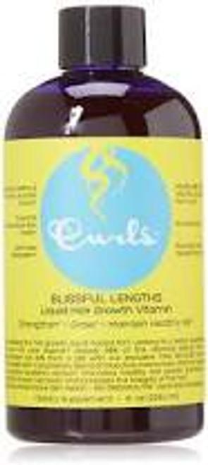 Curls   Blissful Lengths   Blueberry Liquid Hair Growth Vitamin (8oz)