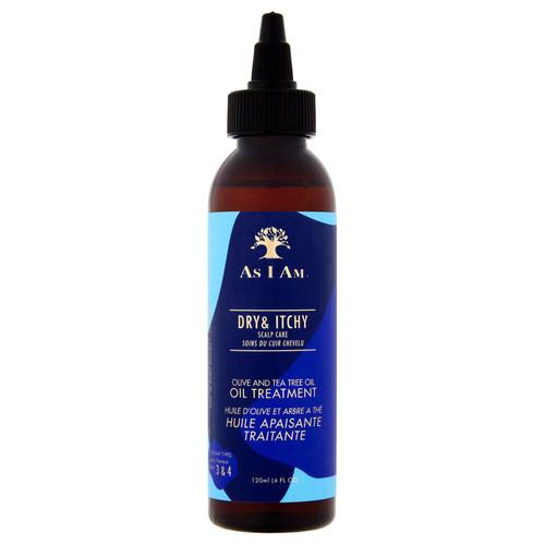 As I Am | Dry & Itchy Scalp Care | Olive & Tea Tree Oil Treatment (4oz)