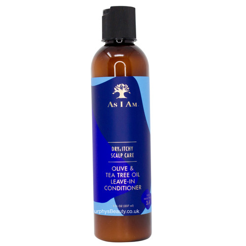 As I Am   Dry & Itchy Scalp Care   Olive & Tea Tree Oil Leave-In Conditioner (8oz)