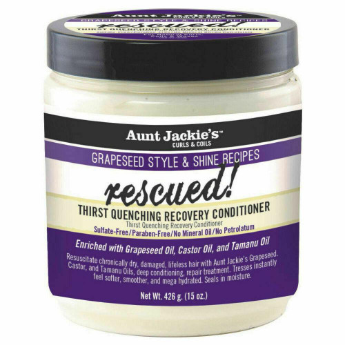 Aunt Jackie's | Grapeseed Style & Shine Recipes | Rescued! Conditioner (15oz)
