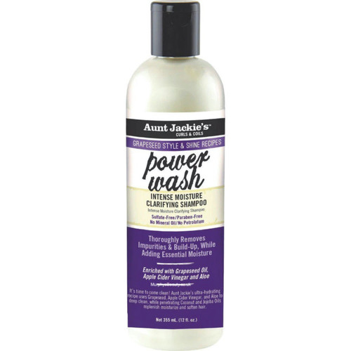 Aunt Jackie's | Grapeseed Style & Shine Recipes | Power Wash Intense Shapoo (12oz)