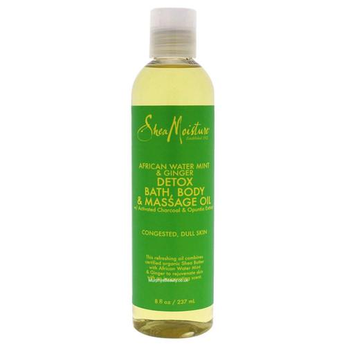 Shea Moisture   African Water Mint & Ginger   Detox Bath, Body & Massage Oil (237ml)