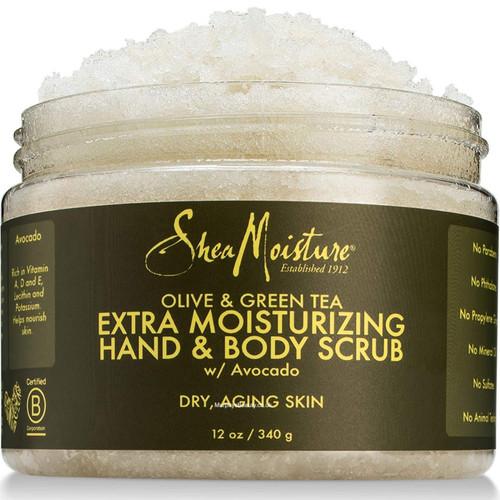 Shea Moisture | Olive & Green Tea | Hand & Body Scrub (12oz)