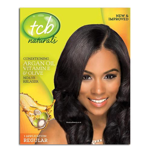TCB   Argan Oil Vitamin E & Olive   Relaxer (Suoer) (1 Application)
