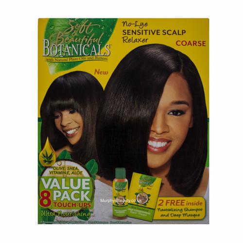 Soft & Beautiful | Botanicals | No-Lye Sensitive Scalp Relaxer (8 Applications)