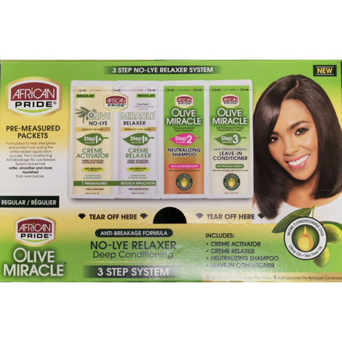 African Pride | Olive Miracle | Deep Conditioning Regular Relaxer (6 Applications)