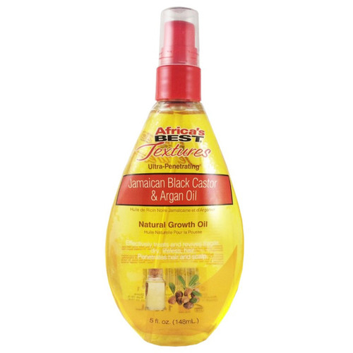 Africa's Best | Textures | Jamaican Black Castor & Argan Oil | Natural Growth Oil (5oz)