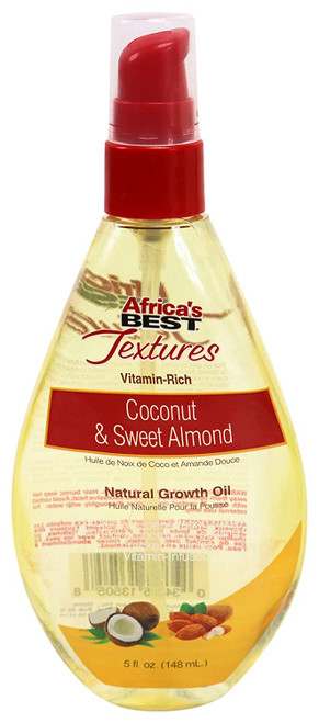 Africa's Best | Textures | Coconut & Sweet Almond | Natural Growth Oil (5oz)