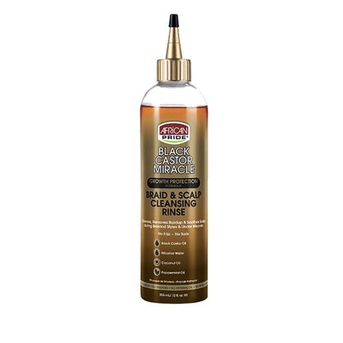 African Pride | Black Castor Oil | Braid & Scalp Cleansing Rinse (12oz)
