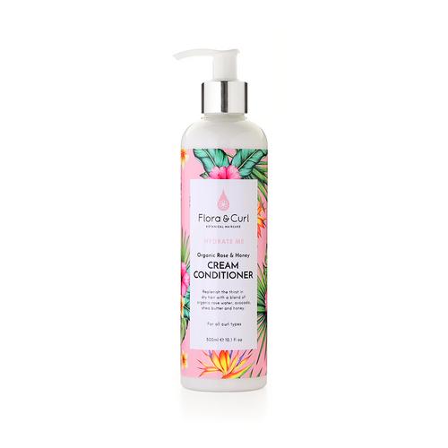 Flora And Curl | Organic Rose and Honey | Cream Conditioner (300ml)